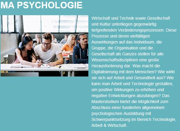 Master Psychologie Beschreibung
